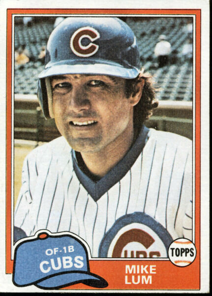 1981 Mike Lum OF-1B at Chicago Cubs - Topps #795