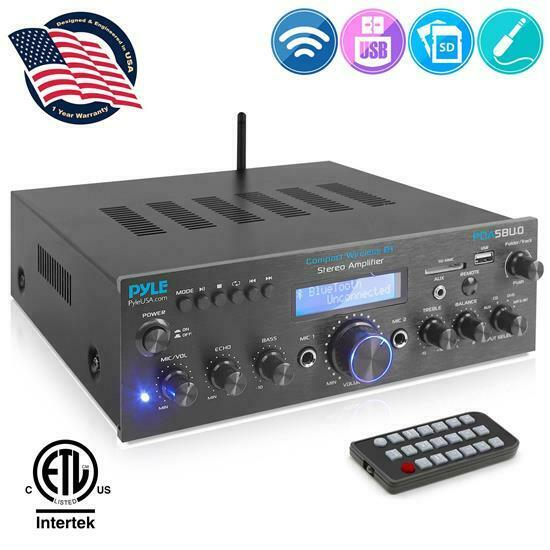 Pyle PDA5BU.0 Home Compact Bluetooth Desktop Stereo Receiver System with FM Radi