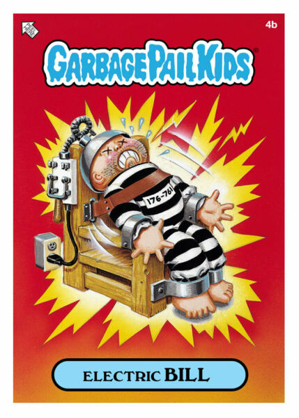 WAX.io  Topps DIGITAL ONLY Garbage Pail Kids ELECTRIC BILL 4b BASE Card Crypto