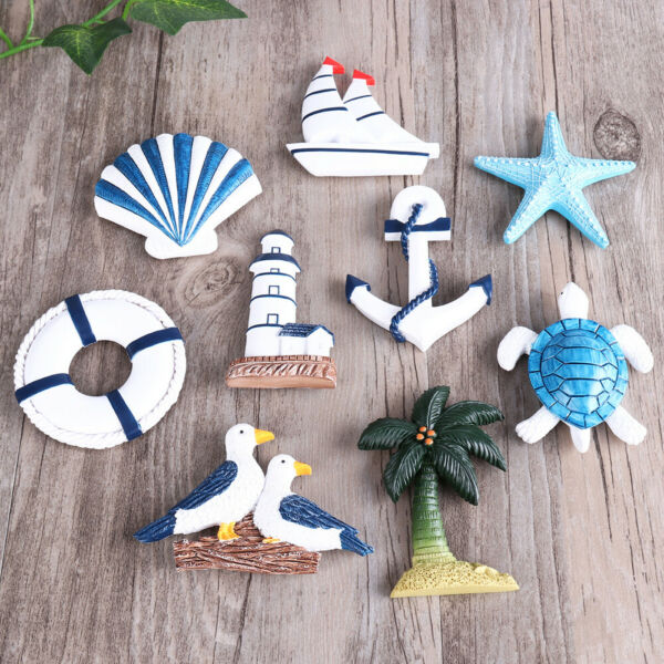 Resin Nautical Lighthouse Anchor Wall Hanging Ornament Beach Boat Ship Steering $13.88