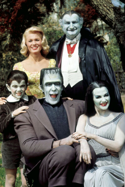 The Munsters Rare Color Cast 24X18 Poster