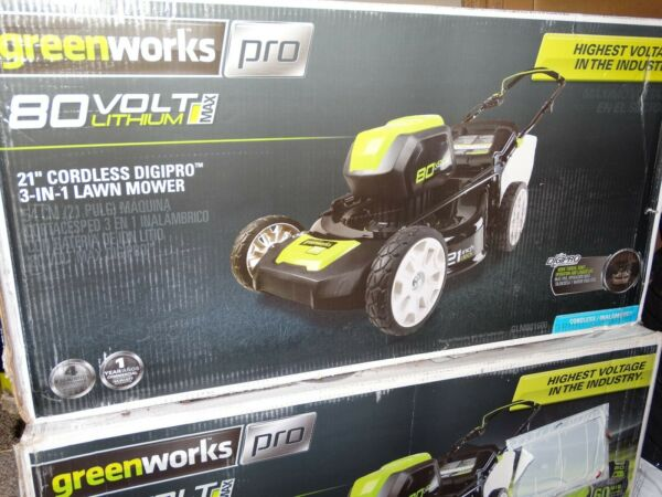 Greenworks PRO 21-Inch 80V Cordless Lawn Mower GLM801600 (Tool only) *BRAND NEW*
