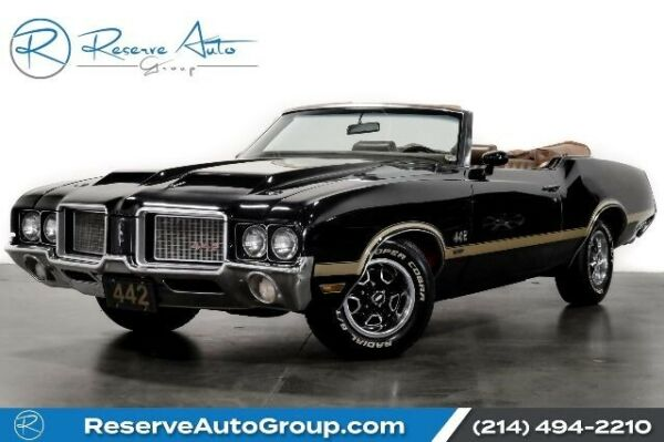 1972 Oldsmobile Cutlass 442 Convertible 1972 Oldsmobile Cutlass Black with 16079 Miles available now!