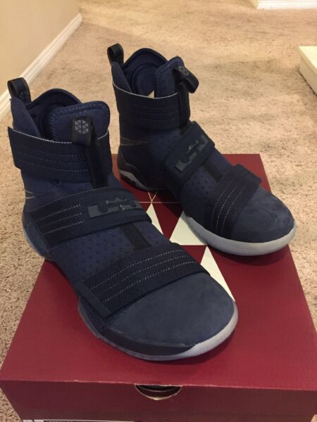 Nike Lebron Soldier 10 SFG Sneakers in Midnight Blue 844378-444 Men Size 10