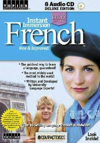 Instant Immersion French: New amp; Improved Topics Entertainment Languag GOOD $6.22