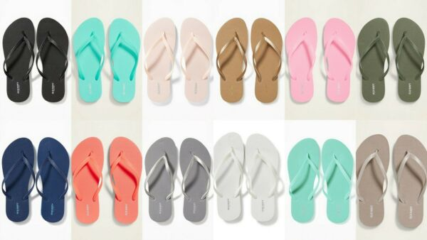 NEW Old Navy Classic Flip Flops Women Black Blue Silver Wine Pink 6 7 8 9 10 11
