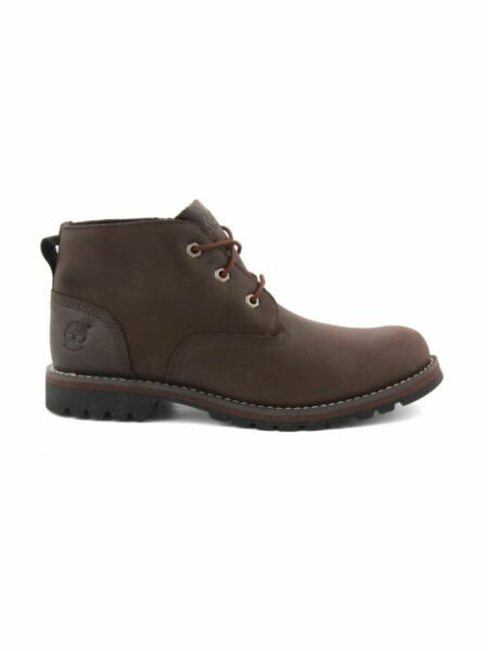 TIMBERLAND MEN#x27;S LARCHMONT WATERPROOF CHUKKA BOOTS DARK BROWN FULL GRAIN A11ET $114.39