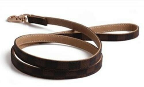 Brown Checkered High Quality Luxury Dog or Cat Pet  leash lead ONLY  $25.99