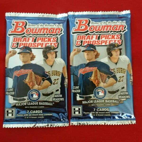2013 Bowman Draft Picks & Prospects 2 PACKS Aaron Judge RC Gold Refractor Hobby $35.98