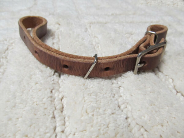 Showman Heavy Harness Leather Leather Adjustable Curb Strap New Horse Tack $7.99