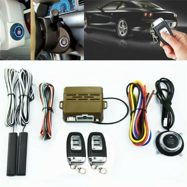 NEW Car SUV Alarm Keyless Entry Engine Ignition Remotes Start Security System