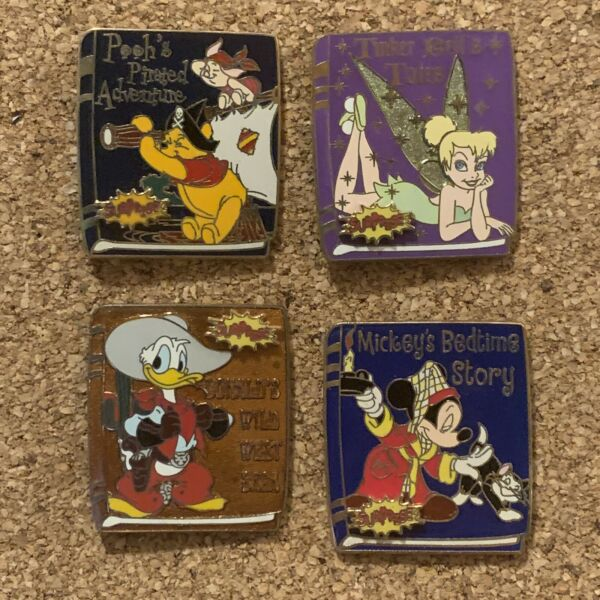 Disney WDW Surprise  Pin Collection 2006 TinkPoohDonaldMickey PIN 46449-46452