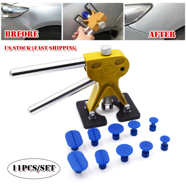 Car Pantless Dent Repair Glue Puller Golden Dent Lifter 10 Tabs Tool Drawing Kit