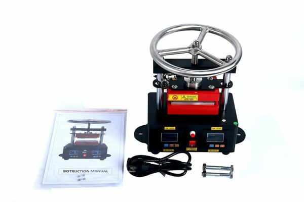 900W Hand Crank Rosin Press Machine Duel Heated Plates Heat Transfer 2.4x4.7