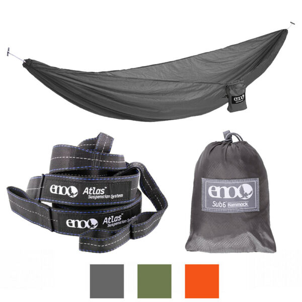 ENO Hammock Jungle Military Camping Lightweight Sub6 300 lbs Suspension System GBP 91.75