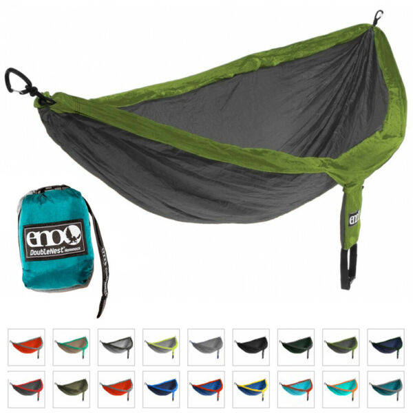 ENO Hammock Jungle Military Bushcraft Survival Camping Olive DoubleNest 400 lbs GBP 47.75