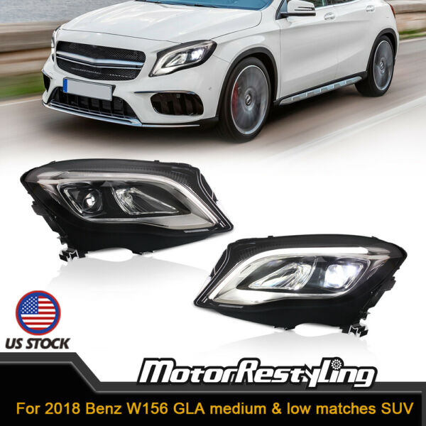 2X Headlights For 2018 Benz W156 GLA medium & low matches SUV LED Day Light