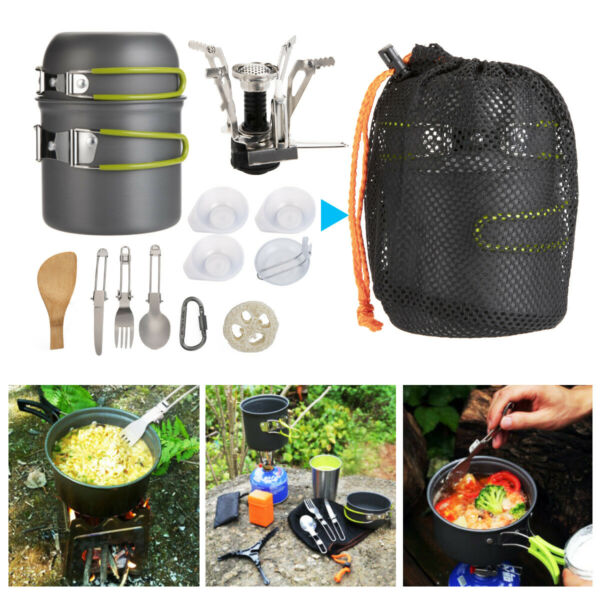 Portable Gas Camping Stove Butane Propane Burner Outdoor Hiking PicnicCookware $25.89
