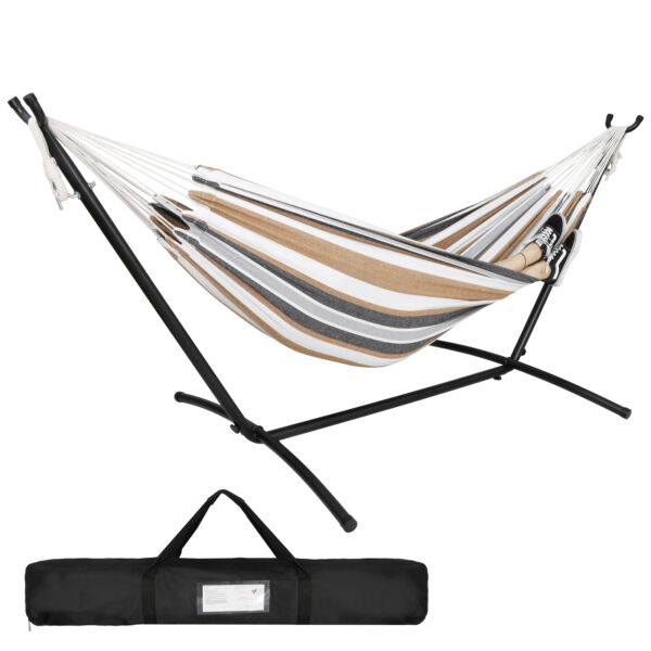 Heavy Duty Steel Hammock Stand w Carrying Case Weather Resistant Finish $62.99