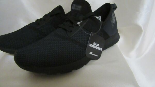 WOMEN`S NEW BALANCE LIFESTYLE WALKING ATHLETIC SNEAKERS SIZE 8.5M NEW BLACK #WXN