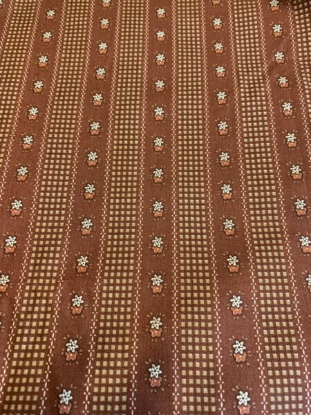 Brown Calico Cotton Fabric