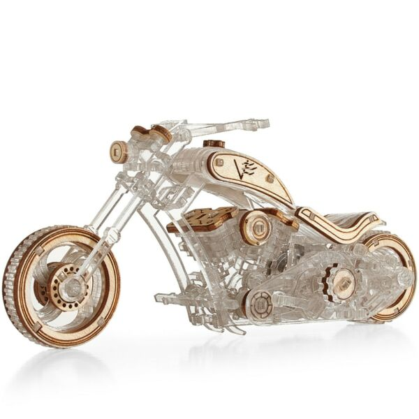 VeterModels Chopper Motorcycle 3D Puzzle for Adults Modelling Kit DIY Bike Hobby $29.90