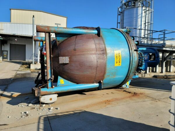 Blaw-Knox 4600 Gallon 316L Stainless Steel Clad Jacketed Reactor