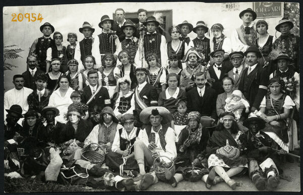 folk theater w amazing faces funny costumes rare Vintage Photograph 1920's $13.99