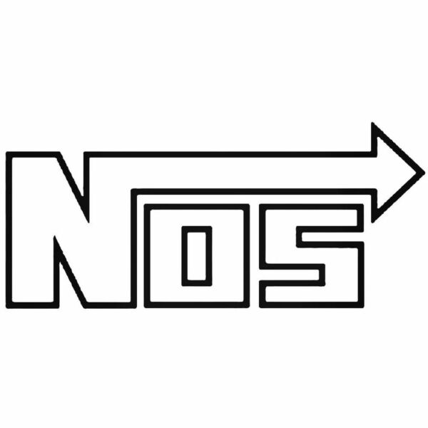 2X NOS NITROUS OXIDE SYSTEMS sticker decals jdm kdm cool racing car turbo hoon