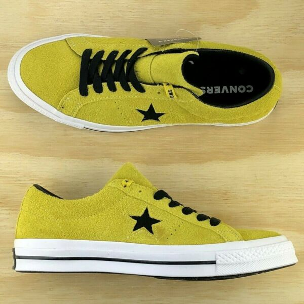 Converse One Star Premium Yellow Vintage Suede Shoes