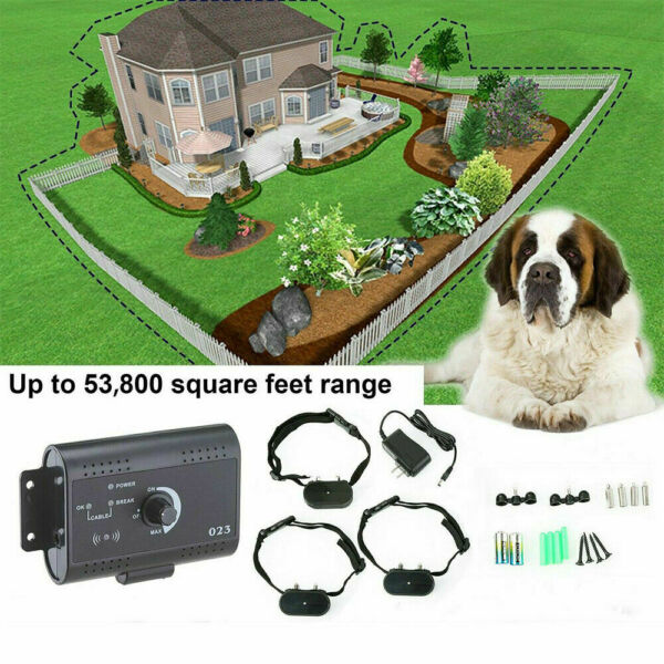 Waterproof Shock Collar Electric Dog Pet Fence System for 1 2 3 dogs Wireless US