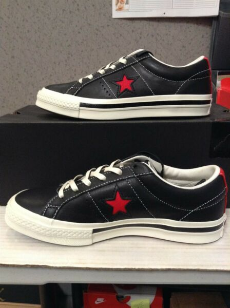 New Converse One Star Ox Leather Shoes Men Sizes Black/Red/White 162839C