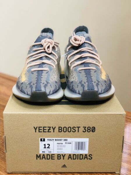 Adidas Yeezy Boost 380 Mist Non-reflective Size 12 FX9764 Authentic