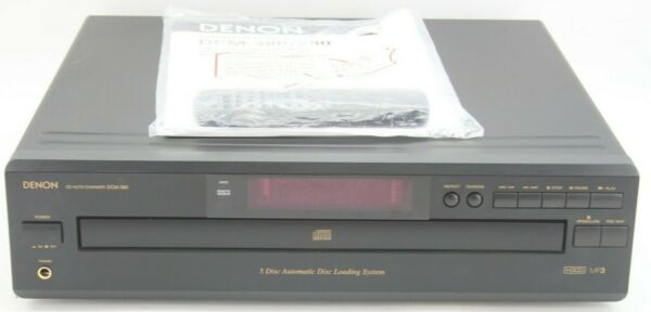 Denon DCM-380 HDCD Mp3 5 Disc Automatic Disc System Player Remote Manual Working $99.99