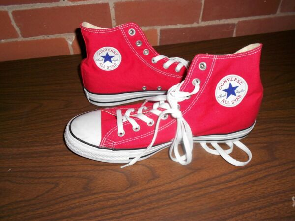 CONVERSE (M9621) All Star Chuck Taylor, Red Hi-Top Sneakers, Unisex Size 10/12