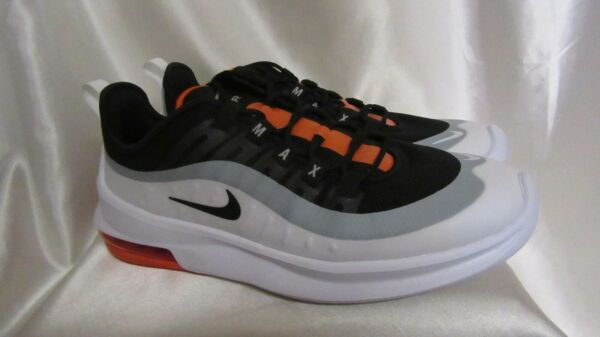 MEN`S NIKE AIR MAX AXIS ATHLETIC SNEAKERS SIZE 12M NEW #AA2146017 BLK/WHT/ORANG