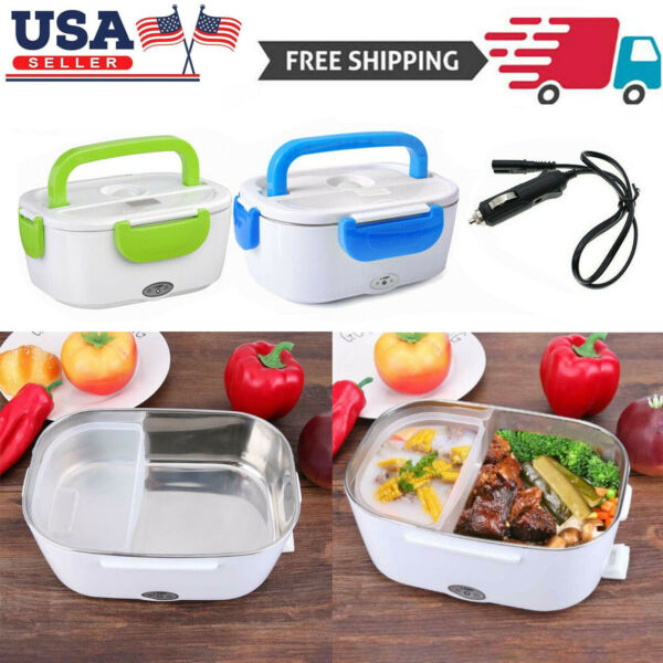 12V Portable Car Electric Heating Lunch Box Food Heater Bento Warmer Container $17.39