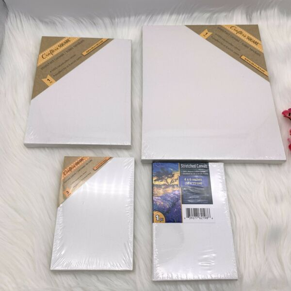 Artist Canvas 100% Cotton for Oil & Acrylic Painting Select Size and Count** $3.25
