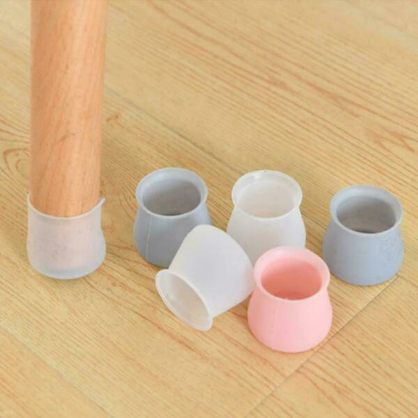 4 PCS Anti slip Round Chair Leg Cups Silicone Patio Covers 4x3.2cm Feet W7O7 C $2.76