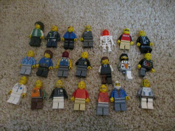 Lego Minifigures lot generic people some older parts pieces used in good shape $38.48