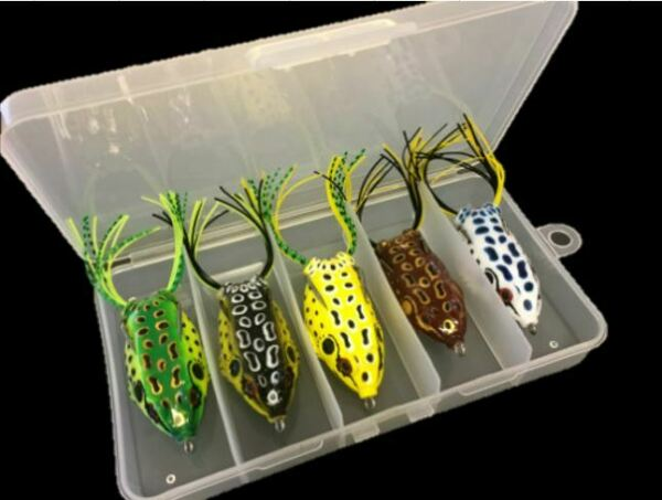5 PCS Large Frog Topwater Soft Fishing Frogs Lure Bait Bass 1 2 oz 2 3 8quot; $11.99