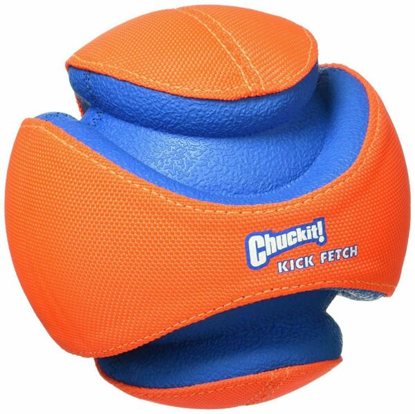 NEW Chuckit! Dog KICK FETCH Durable Toy Ball Will Not Deflate Sz SMALL 6-inch $18.95
