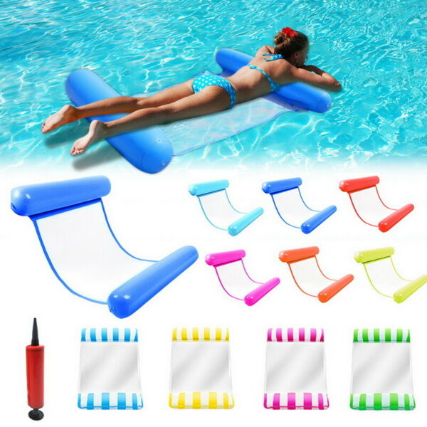 Swimming Inflatable Floating Float Water Hammock Pool Lounge Bed Adult USA $11.99