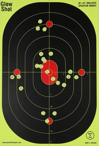 "10 Pack 18"" X 12quot; Reactive Splatter Gun Rifle Pistol Shooting Targets Glow Shot $12.00"