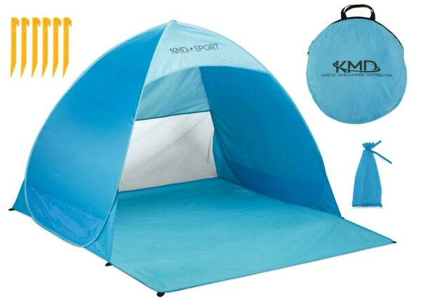 Pop Up Beach Tent Portable Sun Shade Shelter Outdoor Camping Fishing Canopy Blue $24.95