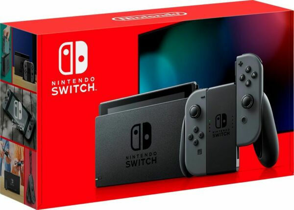 New Sealed Nintendo Switch 32GB Console Gray Joy-Con HADSKAAAA