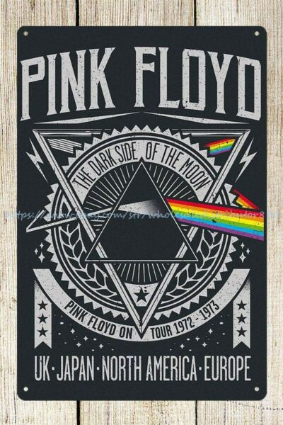 outdoor metal wall decor Pink Floyd English rock band metal tin sign