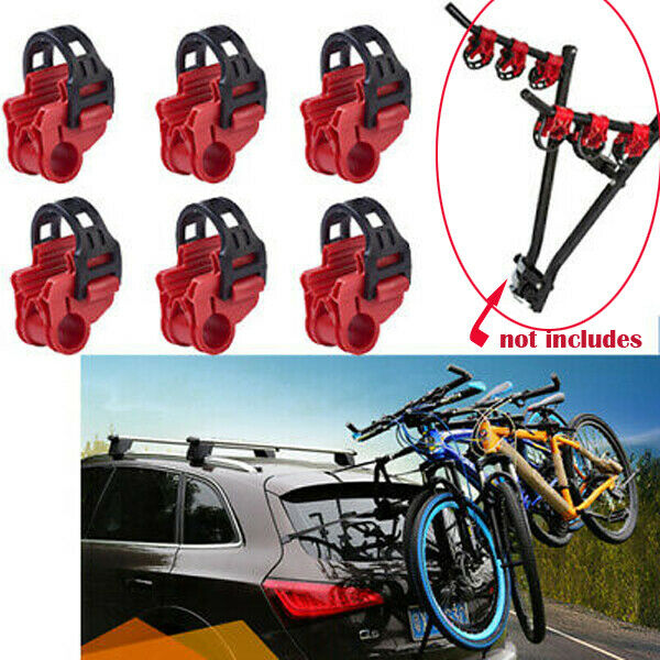 6PCS Car Bicycle Stand SUV Vehicle Trunk Mount Bike Stand Storage Carrier Red $15.99