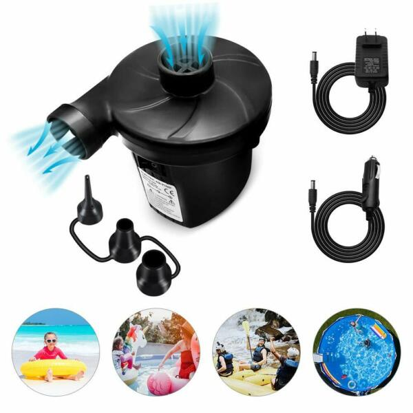 Electric Air Pump Portable Quick Fill Inflator Deflator for Air Mattress Raft US
