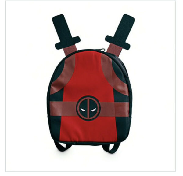 Marvel Deadpool Dog Backpack With Taco Print Lining New Free Shipping $9.99